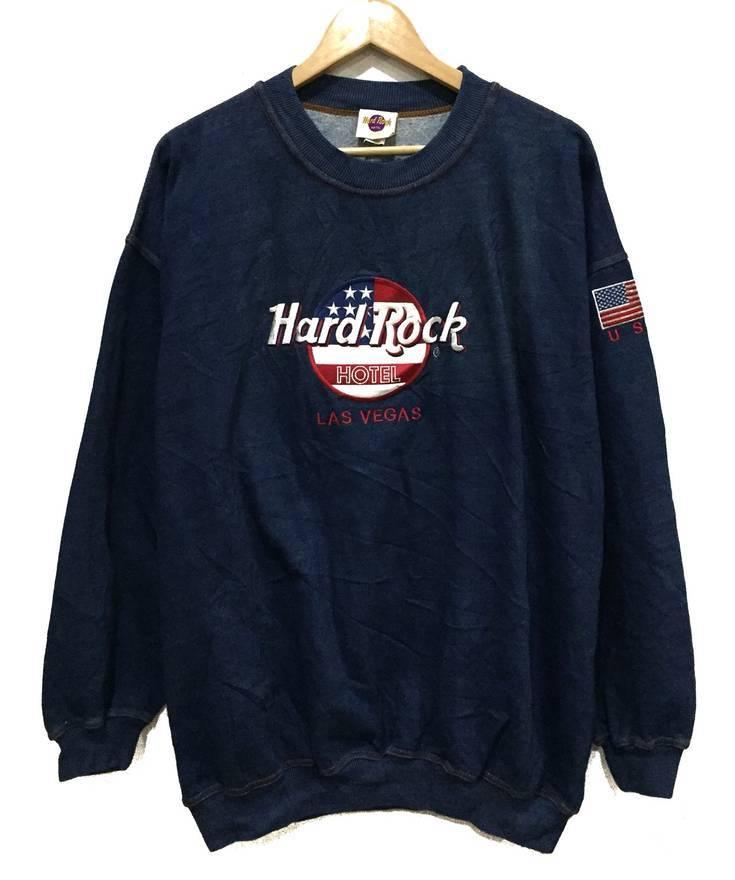 Hard Rock Cafe Rare Hardrock Hotel Las Vegas Embroidery Us Flag