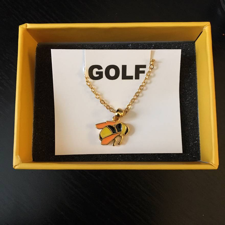 Golf wang sffb bee necklace size one size jewelry watches for golf wang sffb bee necklace size one size aloadofball Images