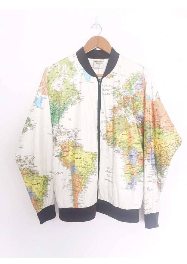 Designer full prints world maps zipper jacket kurt cobain style size designer full prints world maps zipper jacket kurt cobain style size us m eu 48 gumiabroncs Choice Image