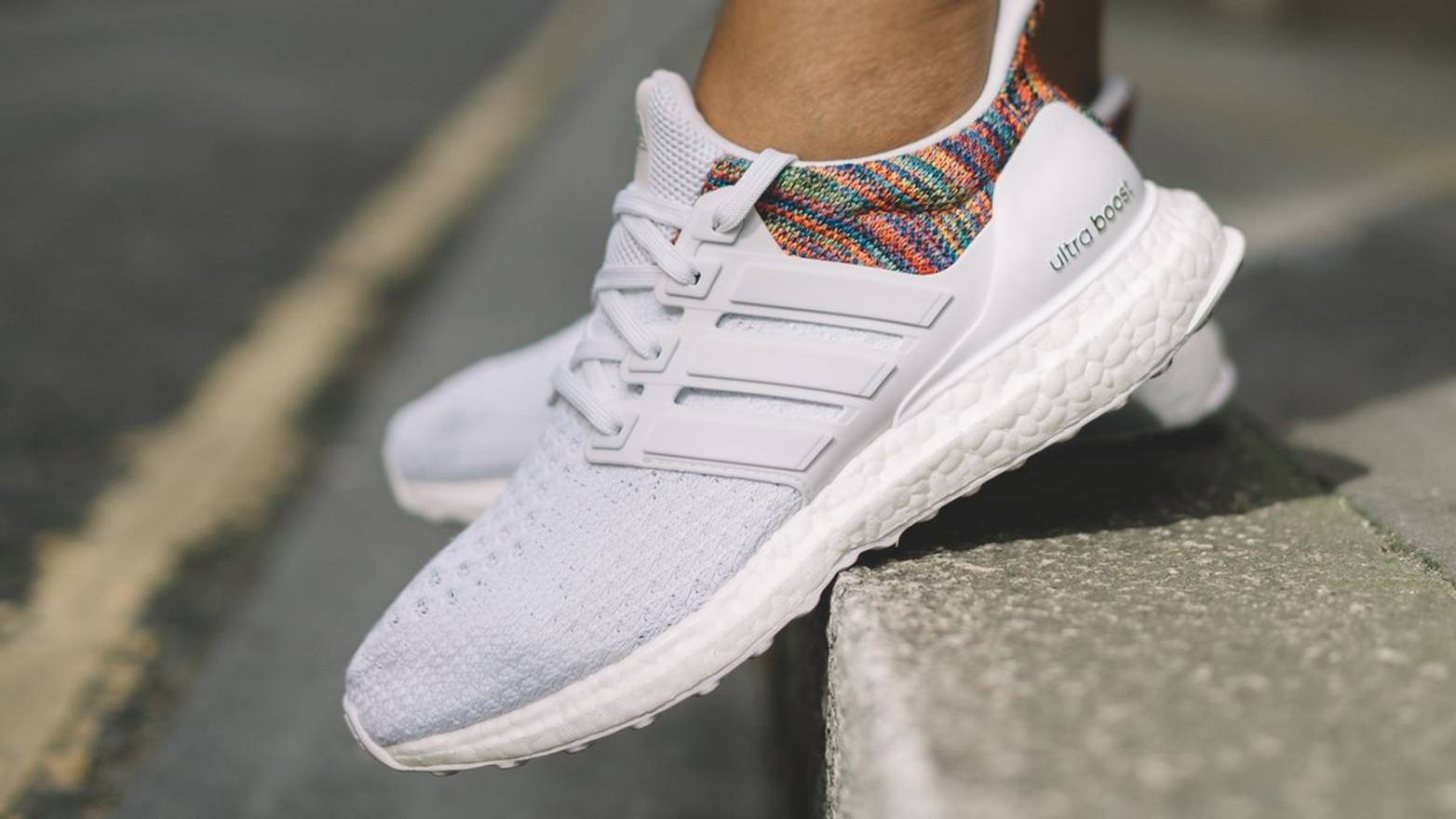 03cf95747593e ... wholesale adidas mi ultra boost rainbow white limited size us 9.5 eu 42  43 b718b 84e35