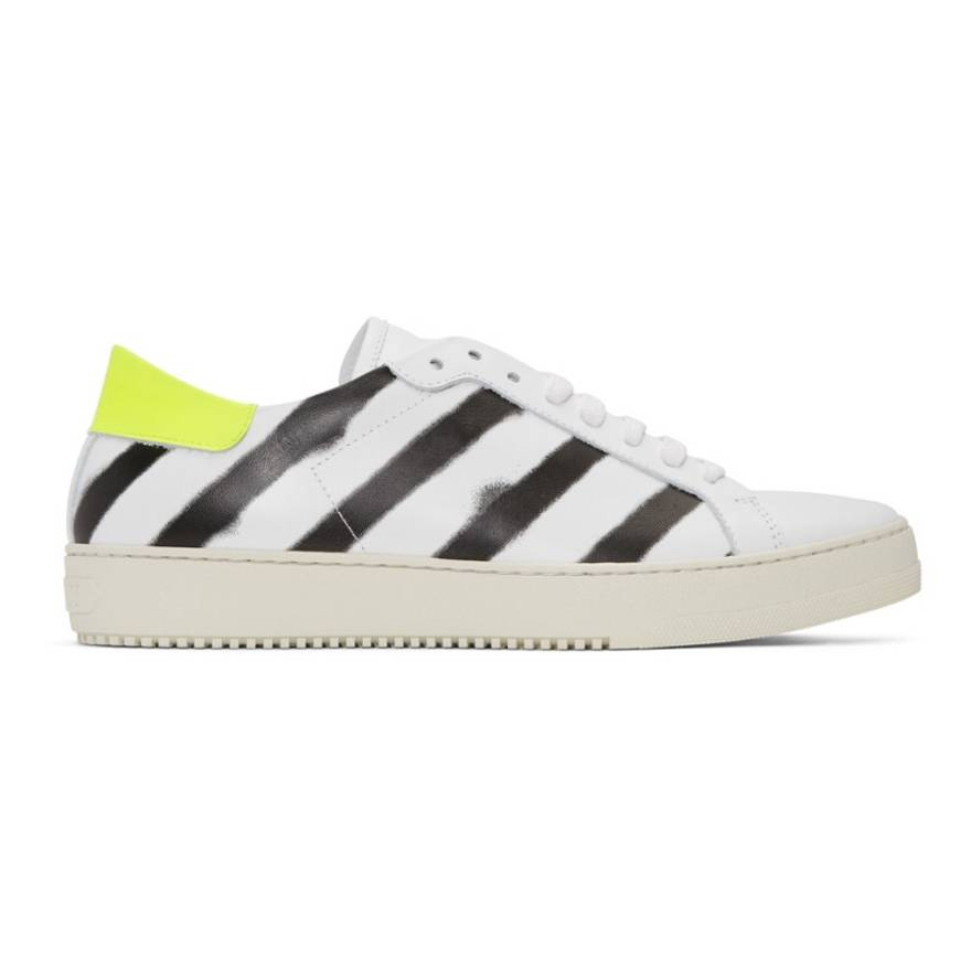 OffWhite Spray Paint Sneakers Size LowTop Sneakers For Sale - How to get paint off shoes