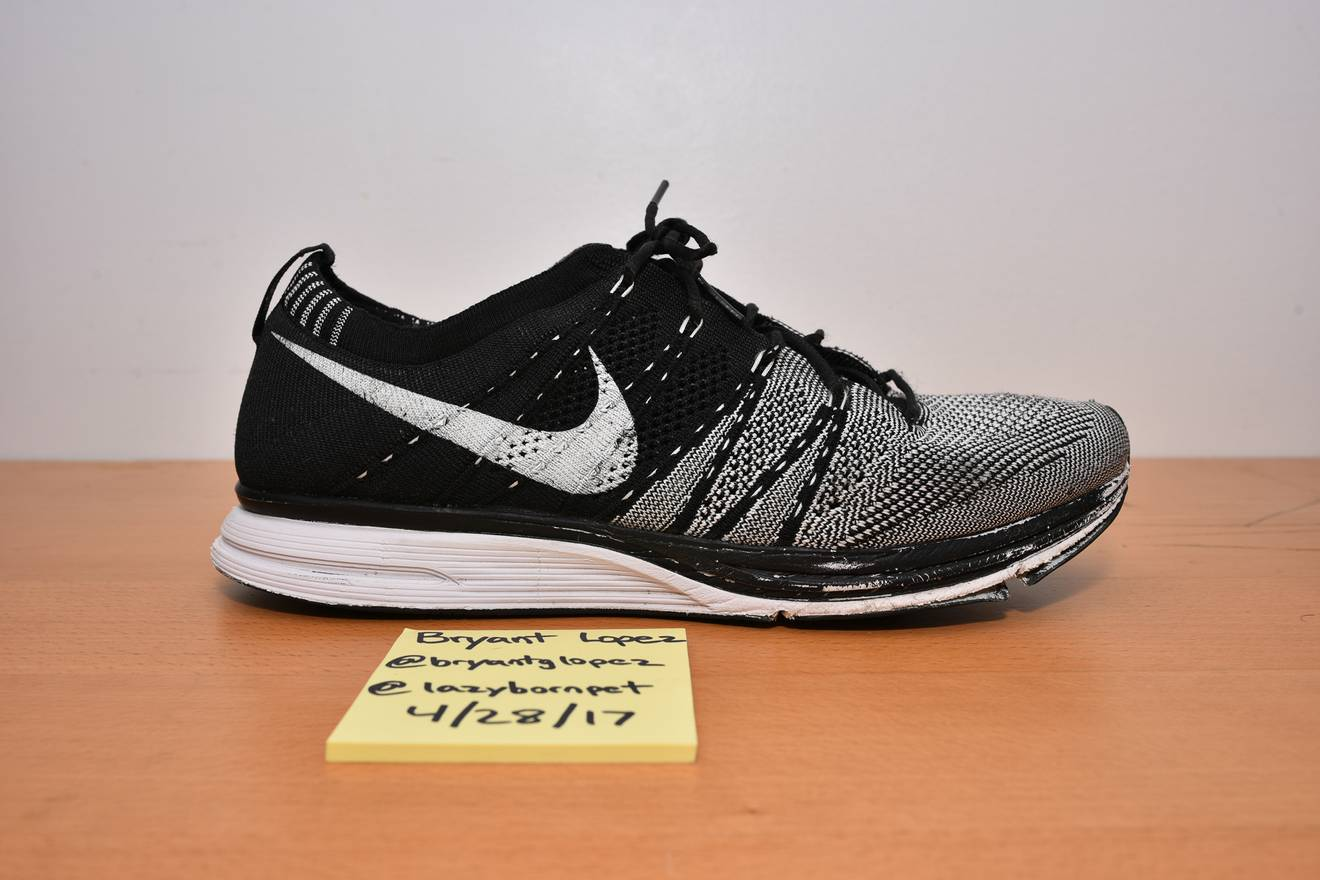 8d8bc710f598 ... cheapest nike flyknit trainer black white unpadded nonpadded og  original 2012 size us 10 eu 43