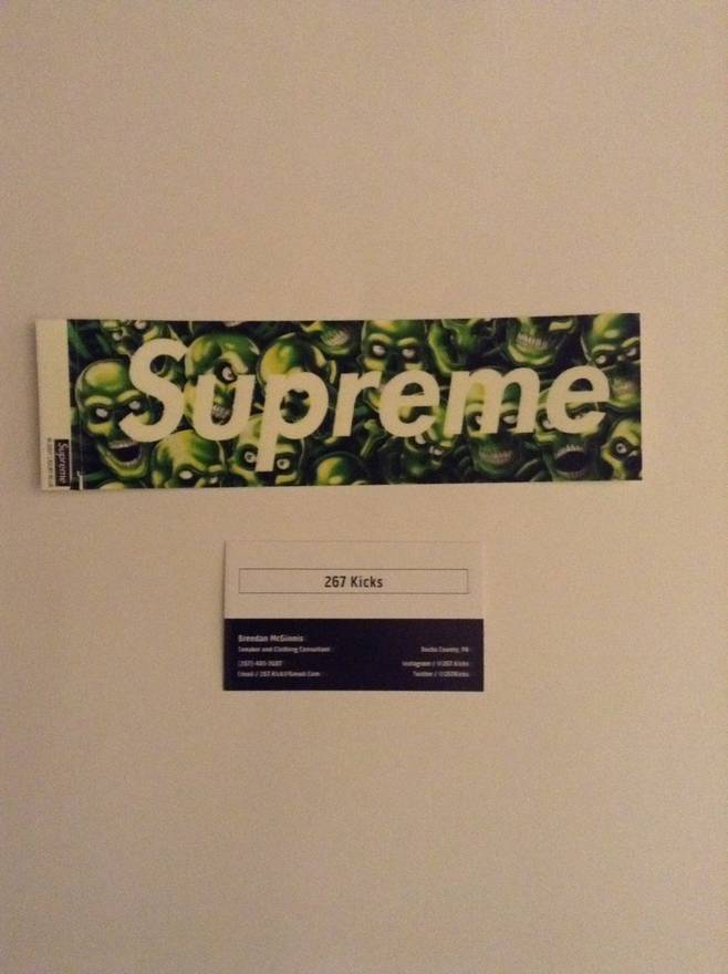 Supreme skull box logo sticker size one size