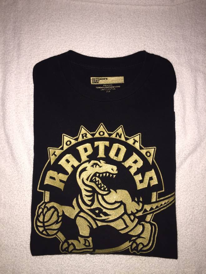 62ebcb24241 Octobers Very Own Raptors X Ovo Limited Edition OG Drake Night Shirt 14'  Size US .