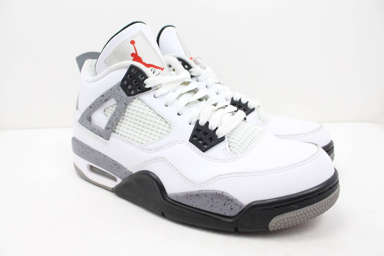 5949b004752081 ... france nike nike air retro jordan 4 white cement size us 8 eu 41 31547  c7d88