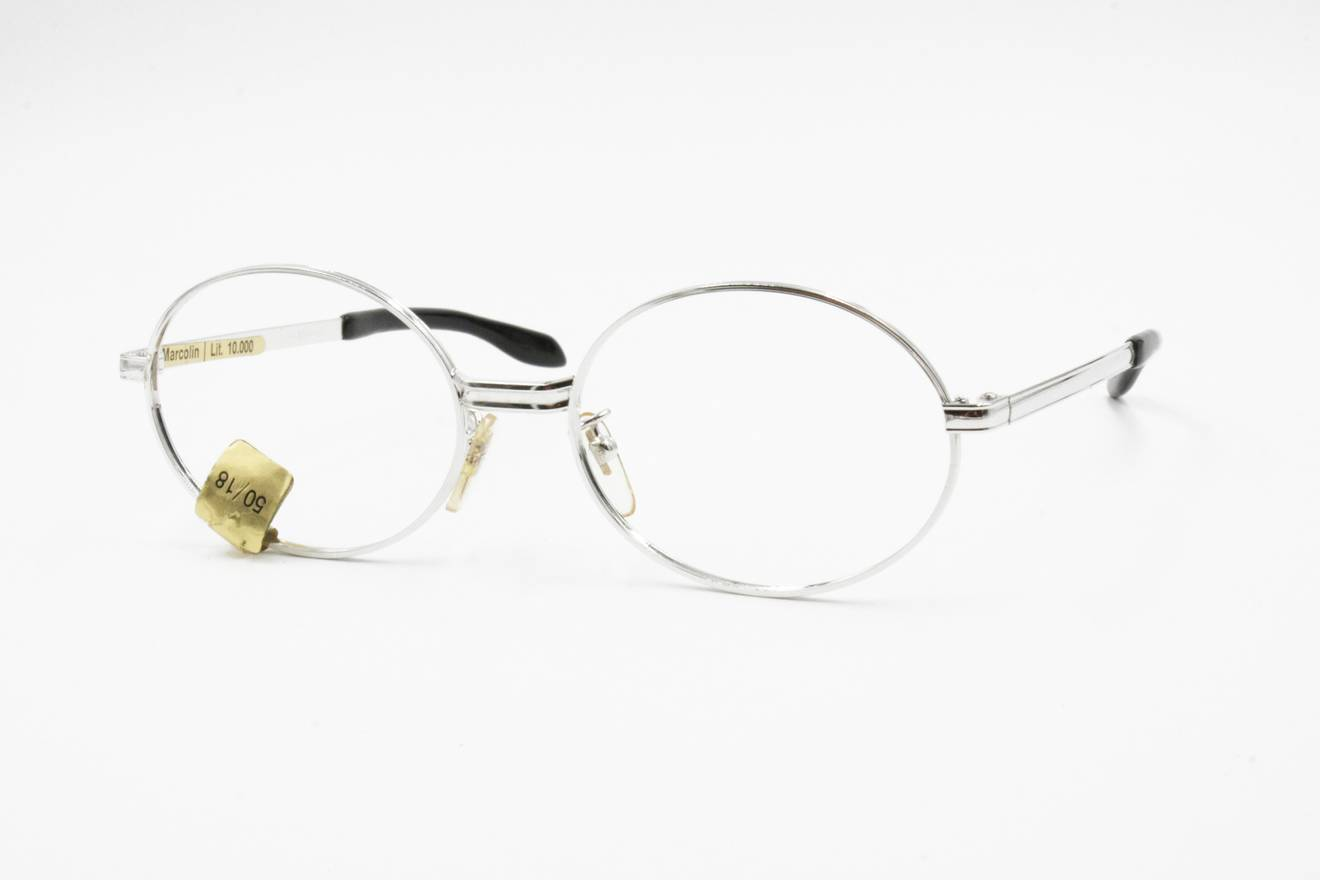 Vintage 1960s Very old glasses frame MARCOLIN by RM, round glasses ...