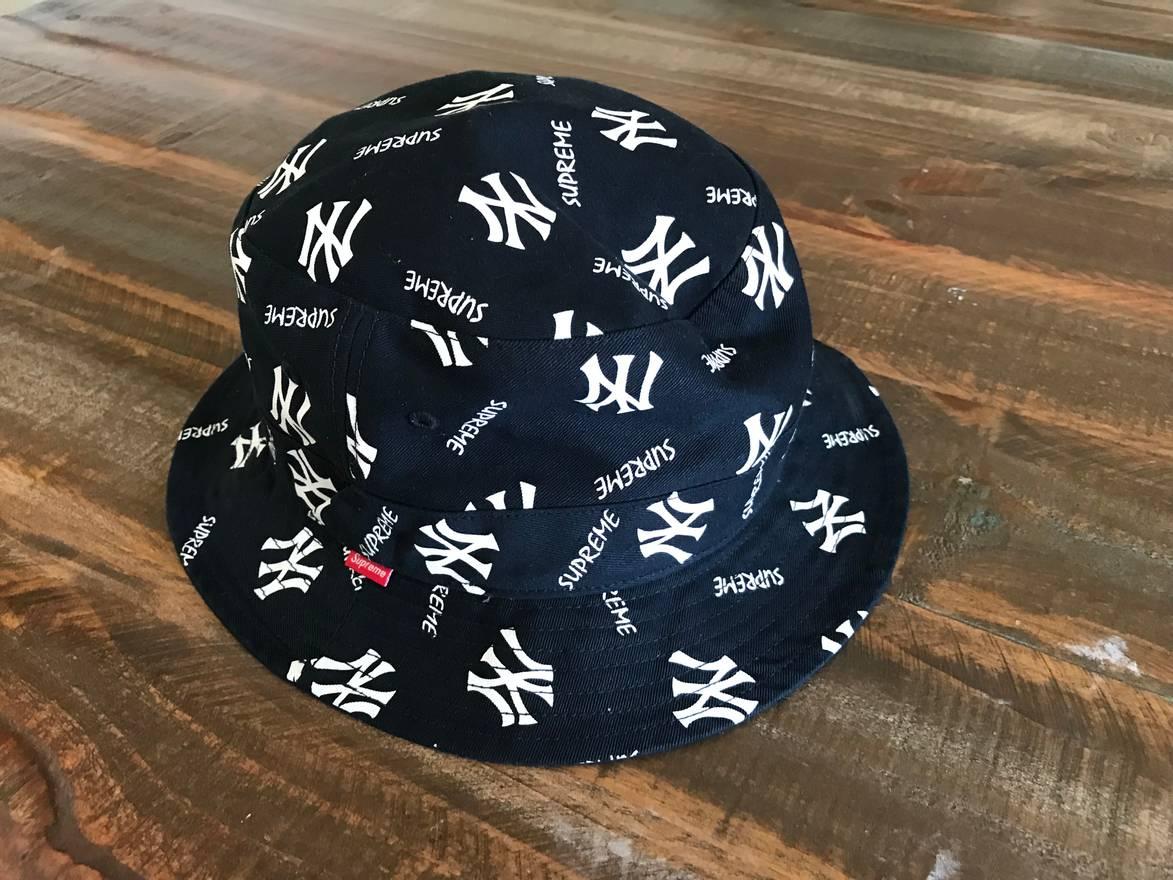 ... sale new era new york yankees bucket hat supreme supreme x yankees bucket  hat size one ccdcbdd511f9