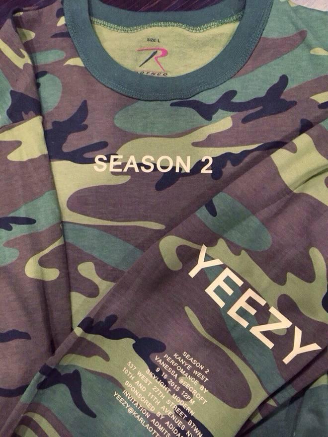 Adidas kanye west yeezy season 2 invite tee long sleeve size l adidas kanye west yeezy season 2 invite tee long sleeve size us l eu 52 stopboris Images