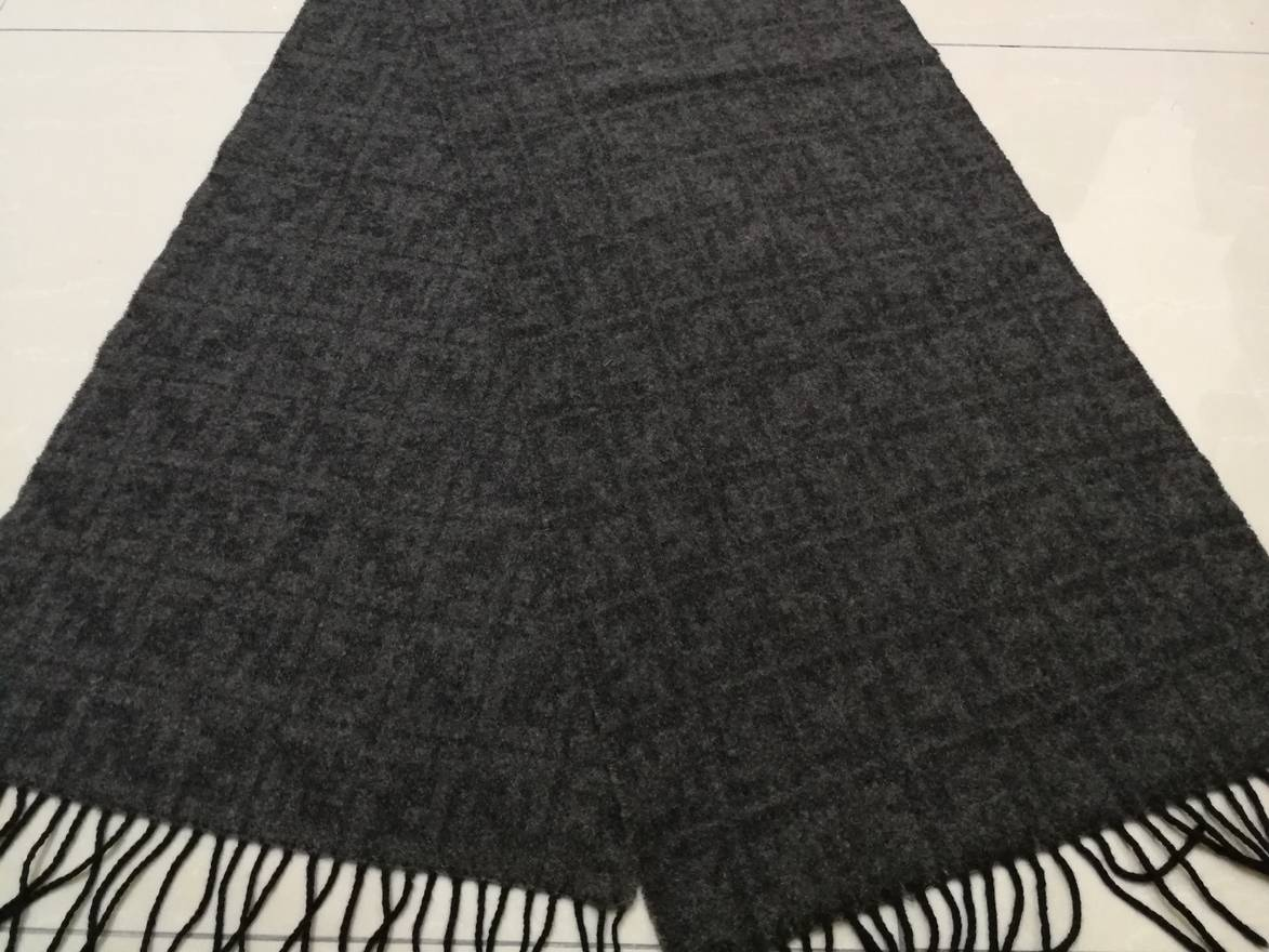 1a21847f4c8a real fendi scarf grey italian 22ef0 513f5