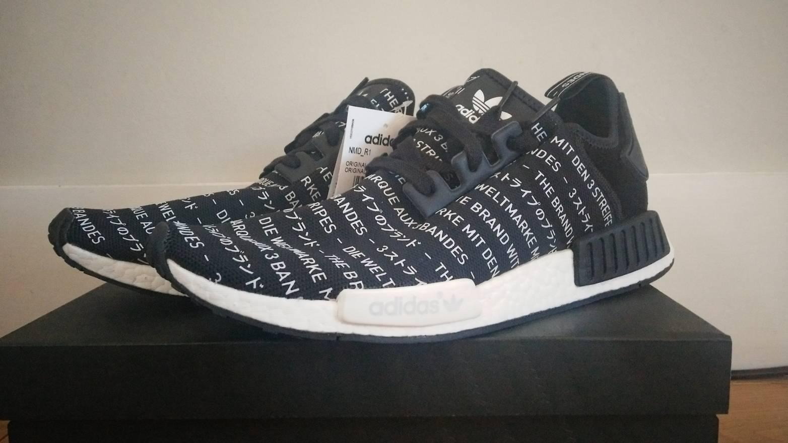 9be1a8467 ... 50% off adidas adidas nmd r1 blackout core black size us 11.5 eu 44 45