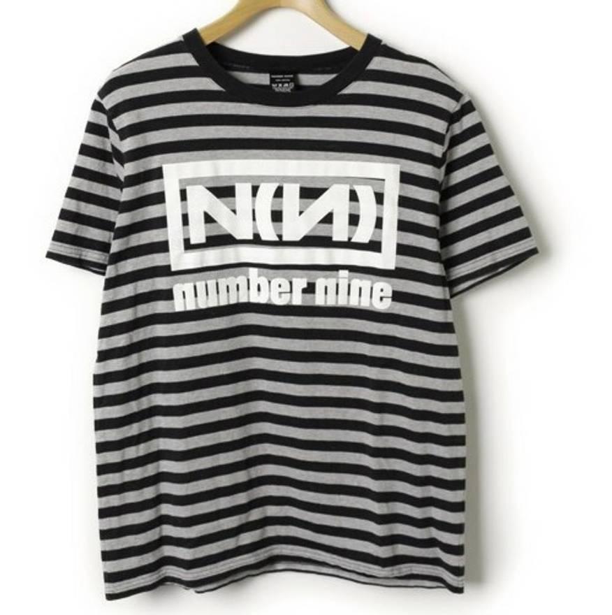 Number (N)ine (QUICK SALE) Stripe Nine Inch Nails-esk Tee Size l ...
