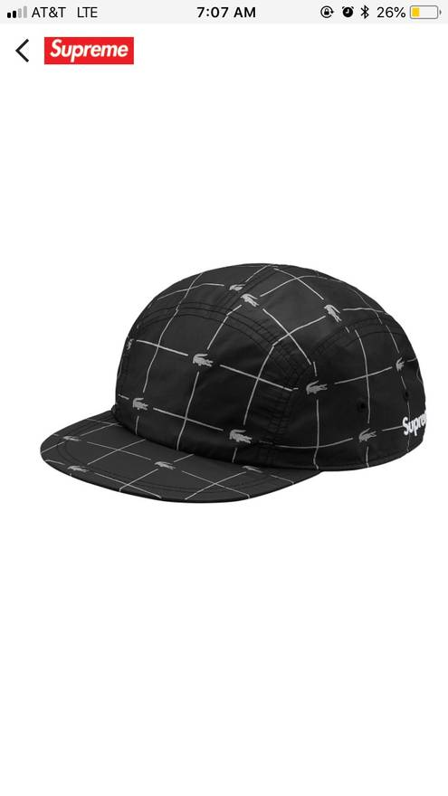 71a5ebce2ad ... australia supreme supreme x lacoste reflective grid nylon cap size one  size 44723 9d2f5
