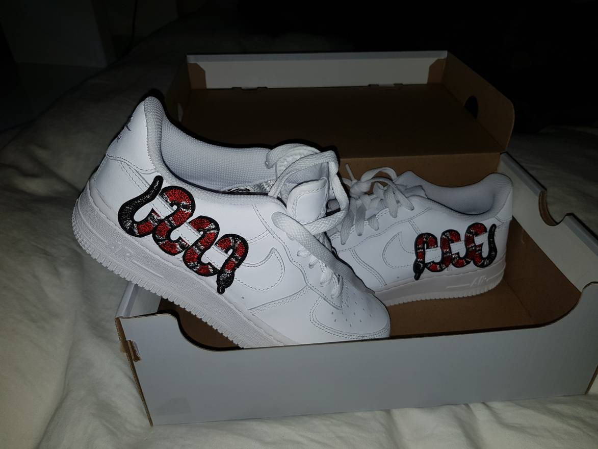 Nike Air Force 1 Low Gucci Snakes Shoes UK Sale