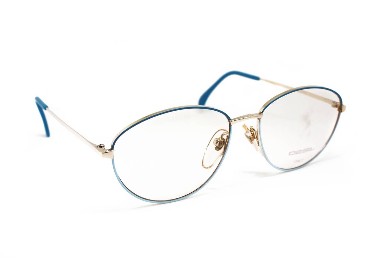 Vintage 80s glasses eyewear DESIL mod. mimi , oval front frame ...