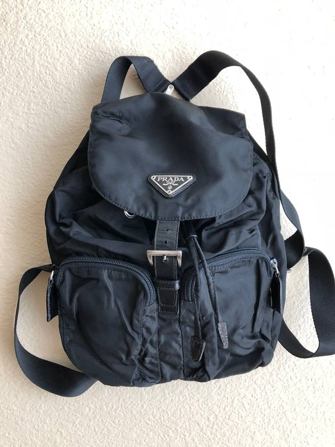 523f7b2d247f ... norway prada need gone today mini black prada backpack size one size  be3bf c9aab