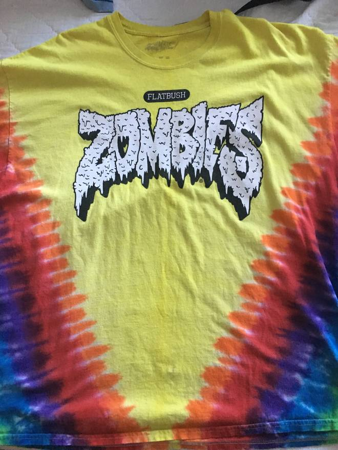 Flatbush Zombies Supreme V Tie Dye Tee Size US XL EU 56 4