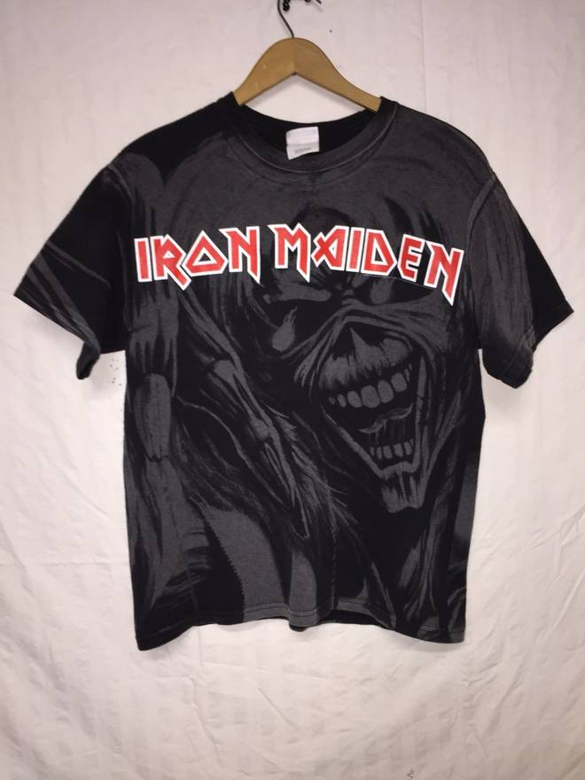 Band Tees Iron Maiden Vintage All Over Print T Shirt Size Medium US M