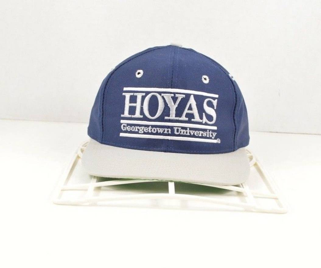 huge discount c085f cd0da ... hat baseball cap 96c39 067f5  where can i buy vintage vintage 90s the  game georgetown hoyas spell out snapback cotton dad