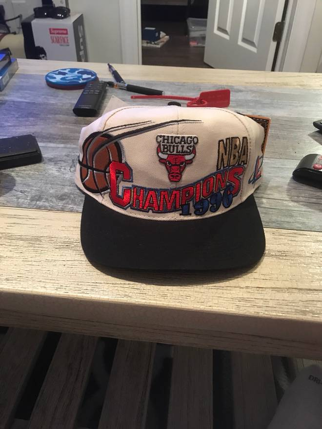 4eae32d8fff inexpensive logo athletic og brand new 1996 chicago bulls championship hat  cap size one size a1ac6