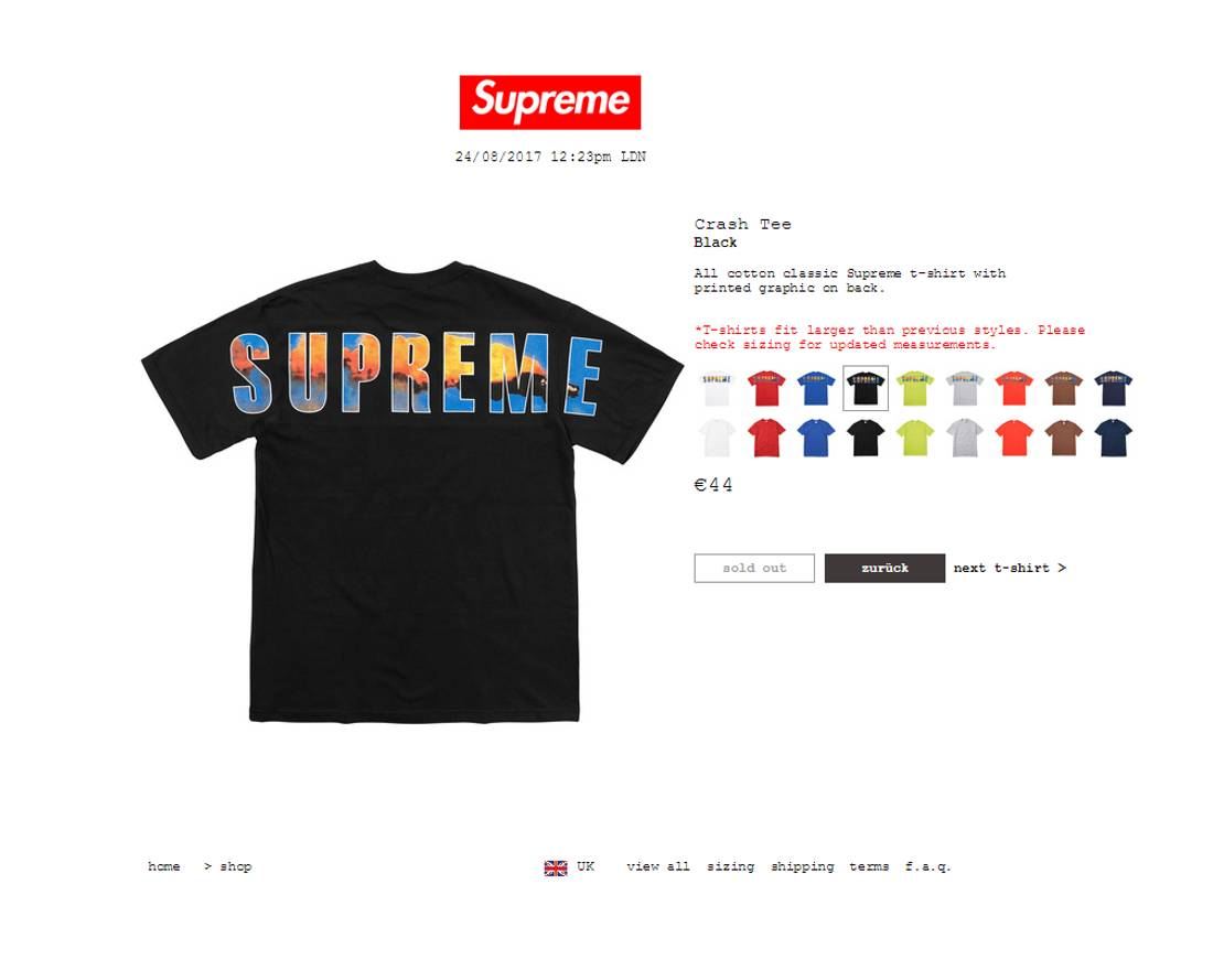 Wholesale Dealer 35399 Fa78d Supreme Sizing Chart