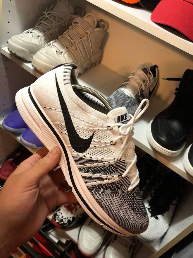 size 40 75723 ef7fc ... Nike Flyknit Trainer Yeknit White Yeezy PADS Size US 11.5 EU 44-45 .