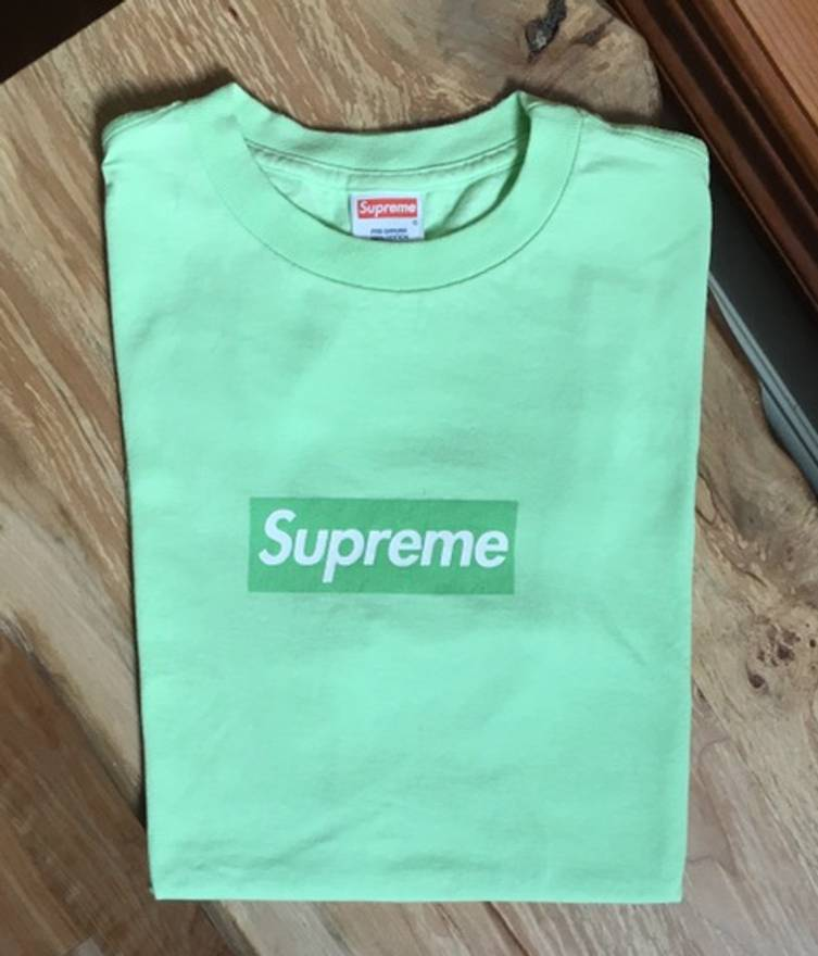 Supreme Lime Green Box Logo Green Tee
