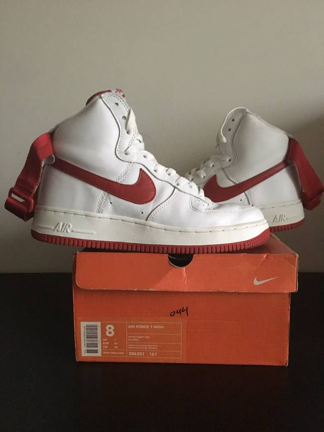 295662f8d46 ... france nike nike air force 1 high white varsity red 2003 size us 8 eu  5fd1d
