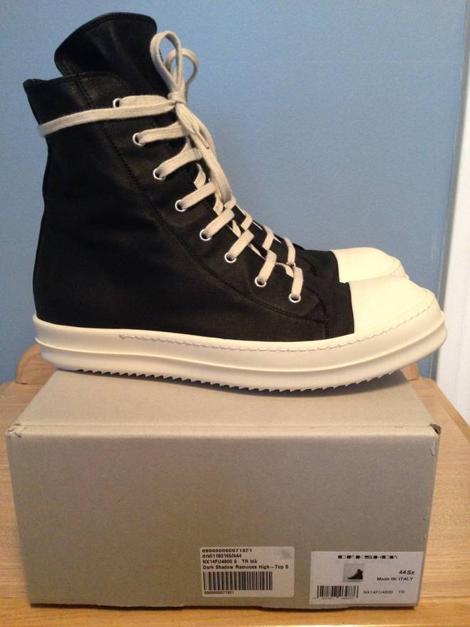 rick owens drkshdw waxed canvas ramones size 11 for sale grailed