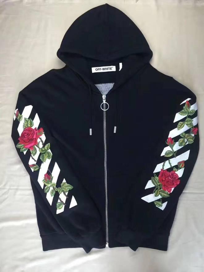 Off white black flower hoodie size m sweatshirts hoodies for off white black flower hoodie size us m eu 48 50 2 mightylinksfo