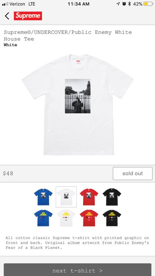 69ba0ca49205 Supreme Supreme White House Tee Size l - Long Sleeve T-Shirts for ...