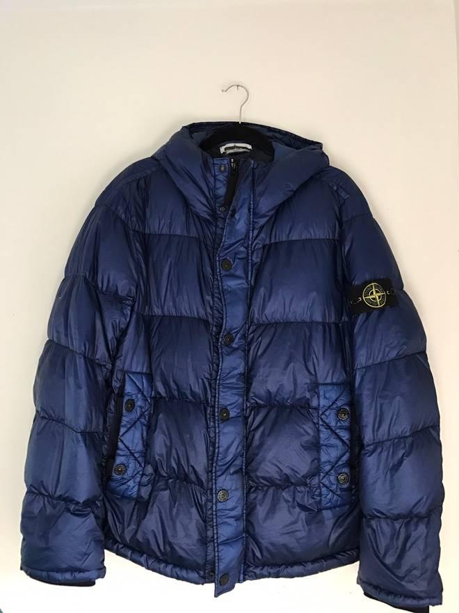 stone island 30th anniversary garment dyed down jacket size xxl
