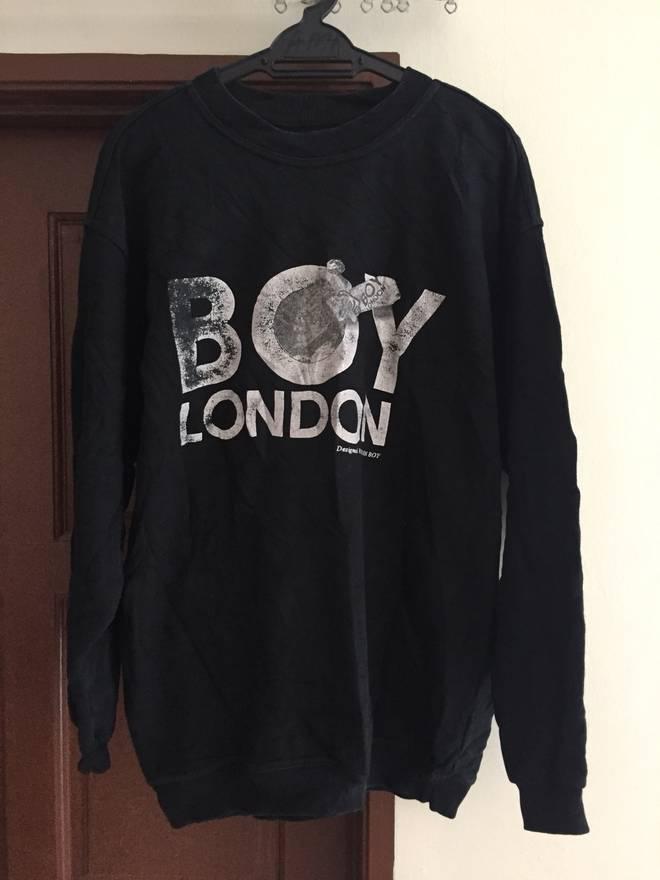 Vintage Rare!! BOY LONDON Sweatshirt Fullprint Jumper Pullover Medium Size