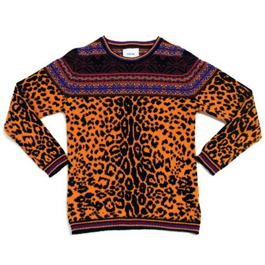 Sibling Leopard Fair Isle Knit Size s - Sweaters & Knitwear for ...