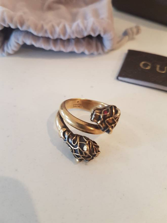 Gucci Tiger Head Gold Ring Size one size Jewelry & Watches for