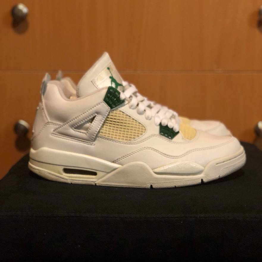 buy popular b1523 face7 ... czech jordan brand 2004 air jordan retro 4 us mens size 9.5 used  sneakers white green