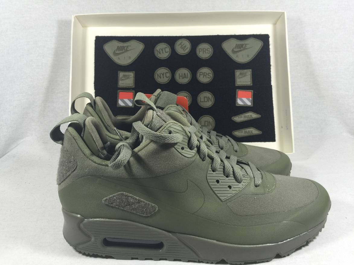 save off fc09b 7ccc0 ... sweden nike air max 90 sneakerboot patches size us 9.5 eu 42 43 ccafd  64a5e