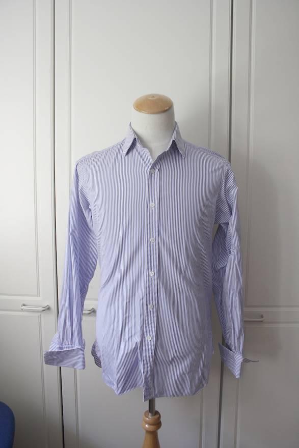 Turnbull & Asser Like new blue stripe Turnbull&Asser dress shirt ...