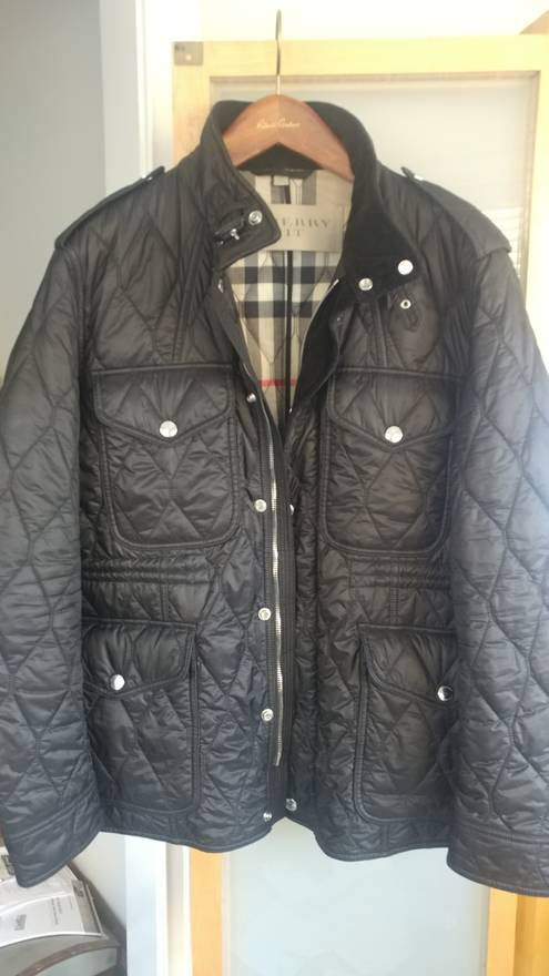Burberry Diamond Quilted Field Jacket Size Xxl Light Jackets For