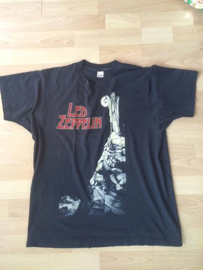 Vintage 1984 Led Zeppelin Zoso Shirt Size Xl Shirts Button Ups