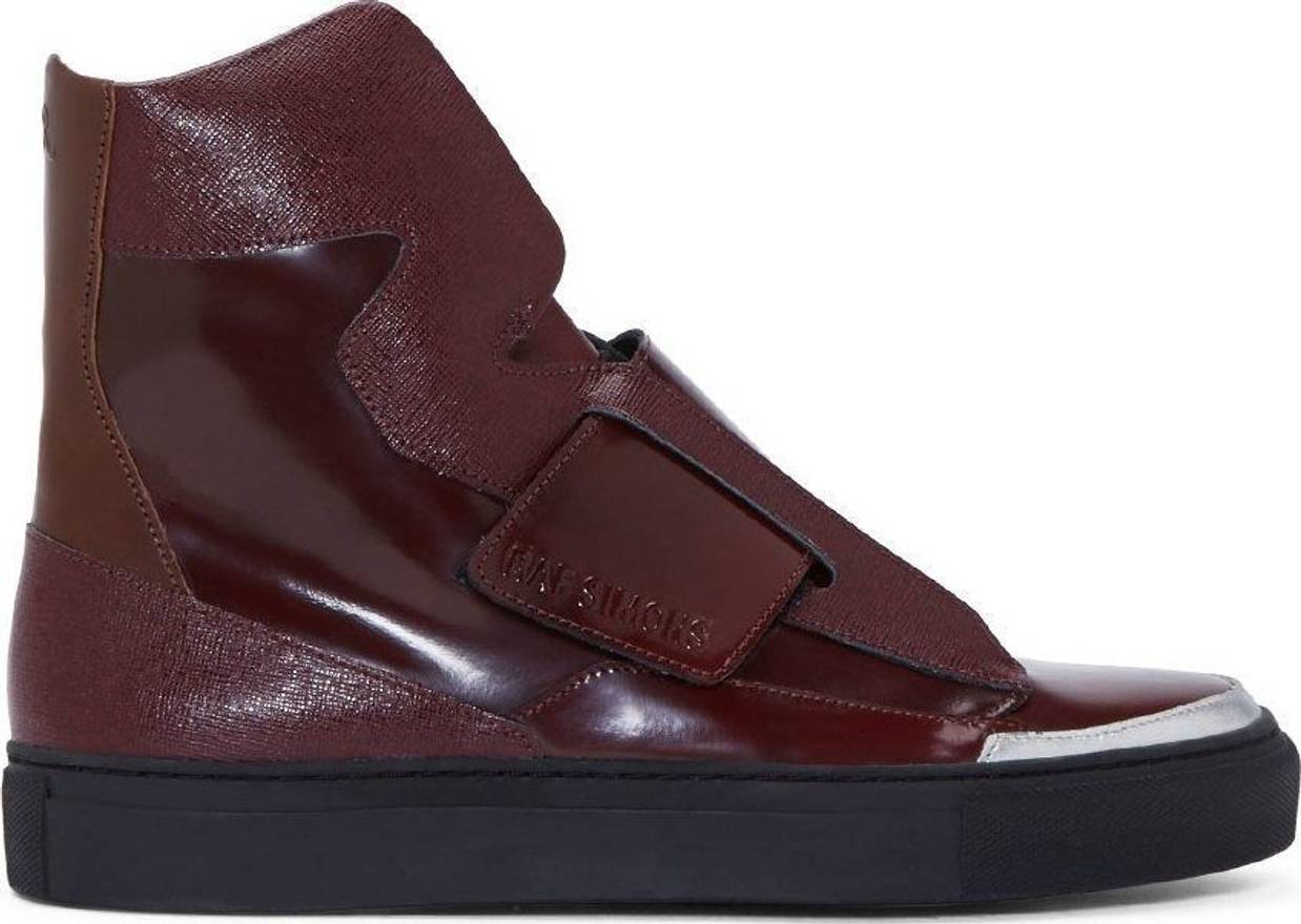 RAF SIMONSPatent Leather High Trainers