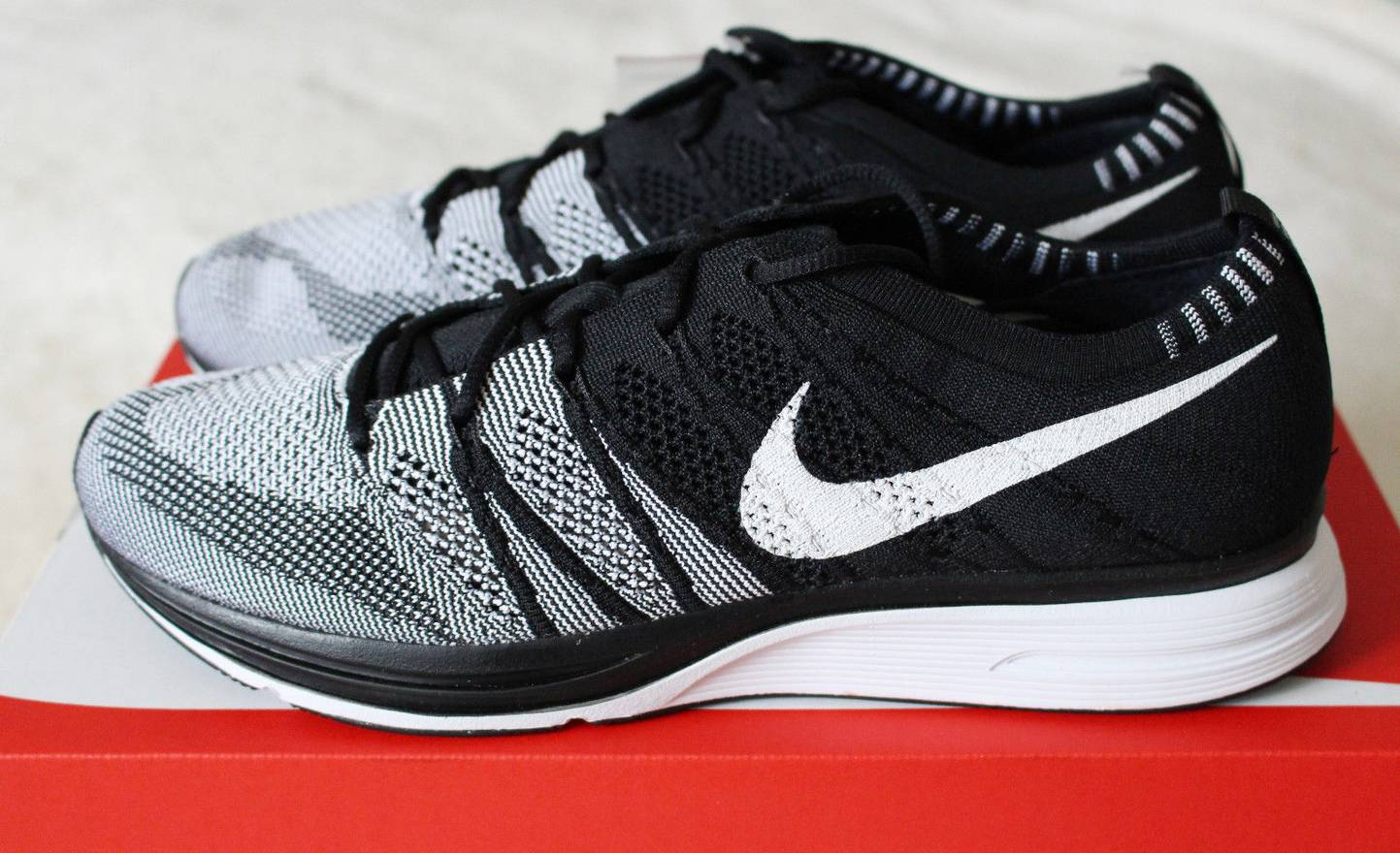 5d18a1c9583e ... clearance nike nike flyknit trainer black white oreo ah8396 005 size 10  yeezy nmd boost size
