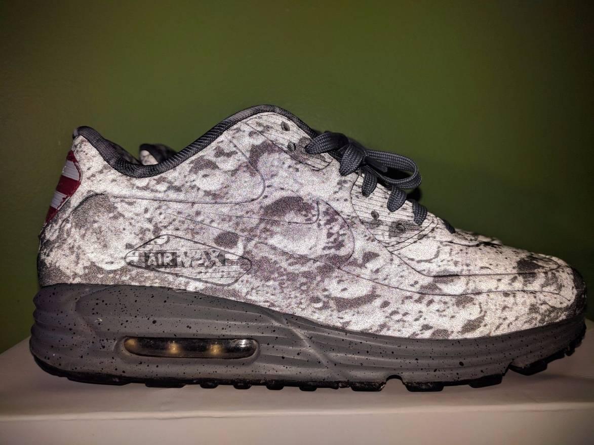 Nike Air Max 90 Lunar SP Moon Landing Apollo 11 Womens Shoes Neil Armstrong Red American Flag Usa Cheap