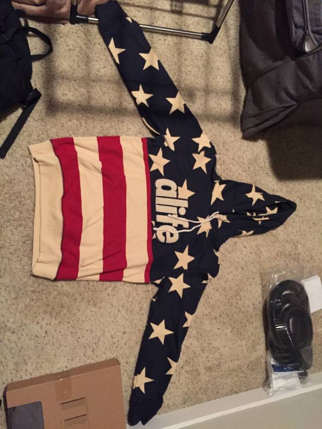alife star flag hoodie size l sweatshirts hoodies for sale grailed
