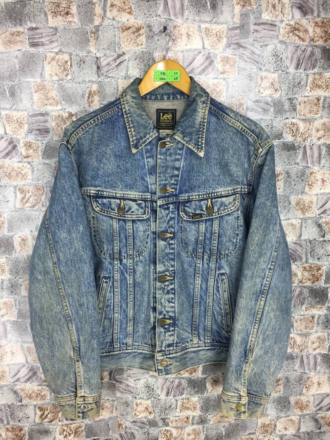 LEE RIDERS USA Denim Jeans Jacket Xlarge Vintage Jeans Trucker 90s Lee Hipster Jacket Denim Blue Jeans Jacket Button Size Xl