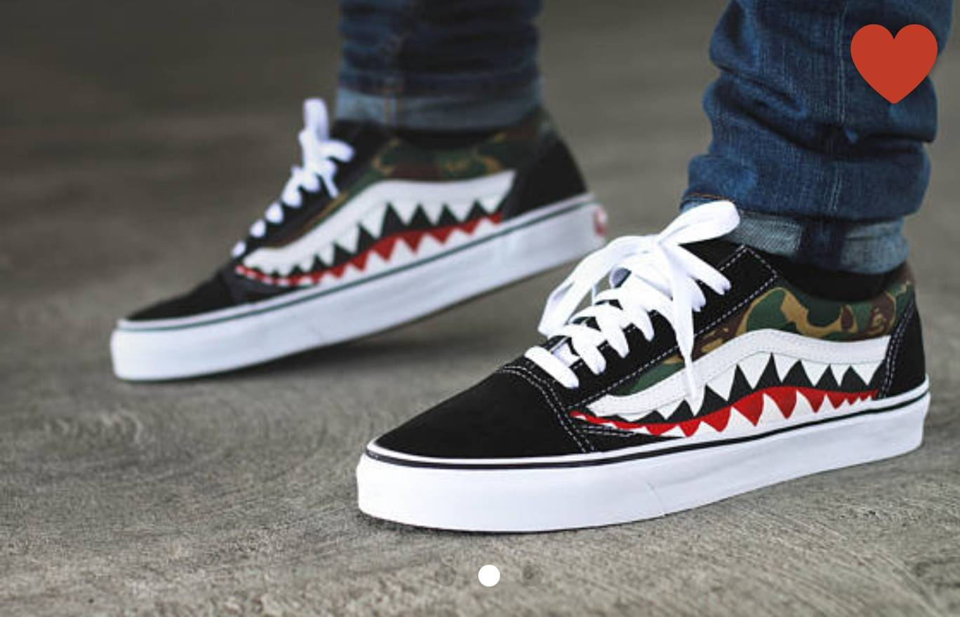 Vans Bape Shark Custom Size US 9 EU 42