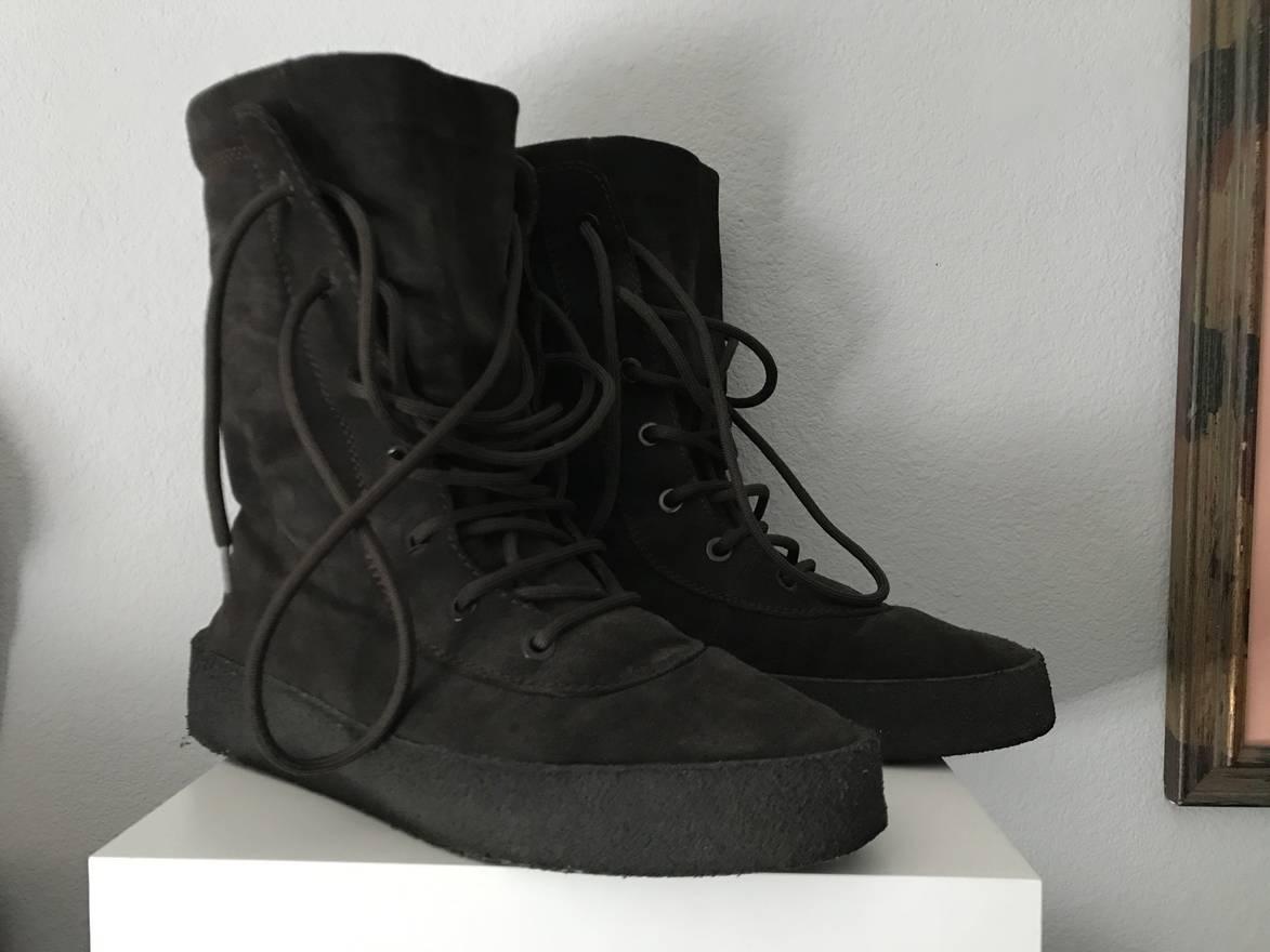 0b83c1161 ... Kanye West Yeezy Season 2 Oil Crepe Boots Size US 13 EU 46 .