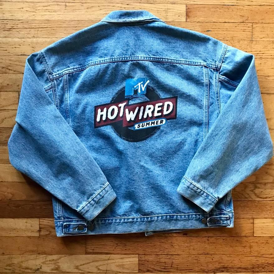 Mtv Vintage MTV Hot Wired Summer Denim Jacket Light Wash Size l ...