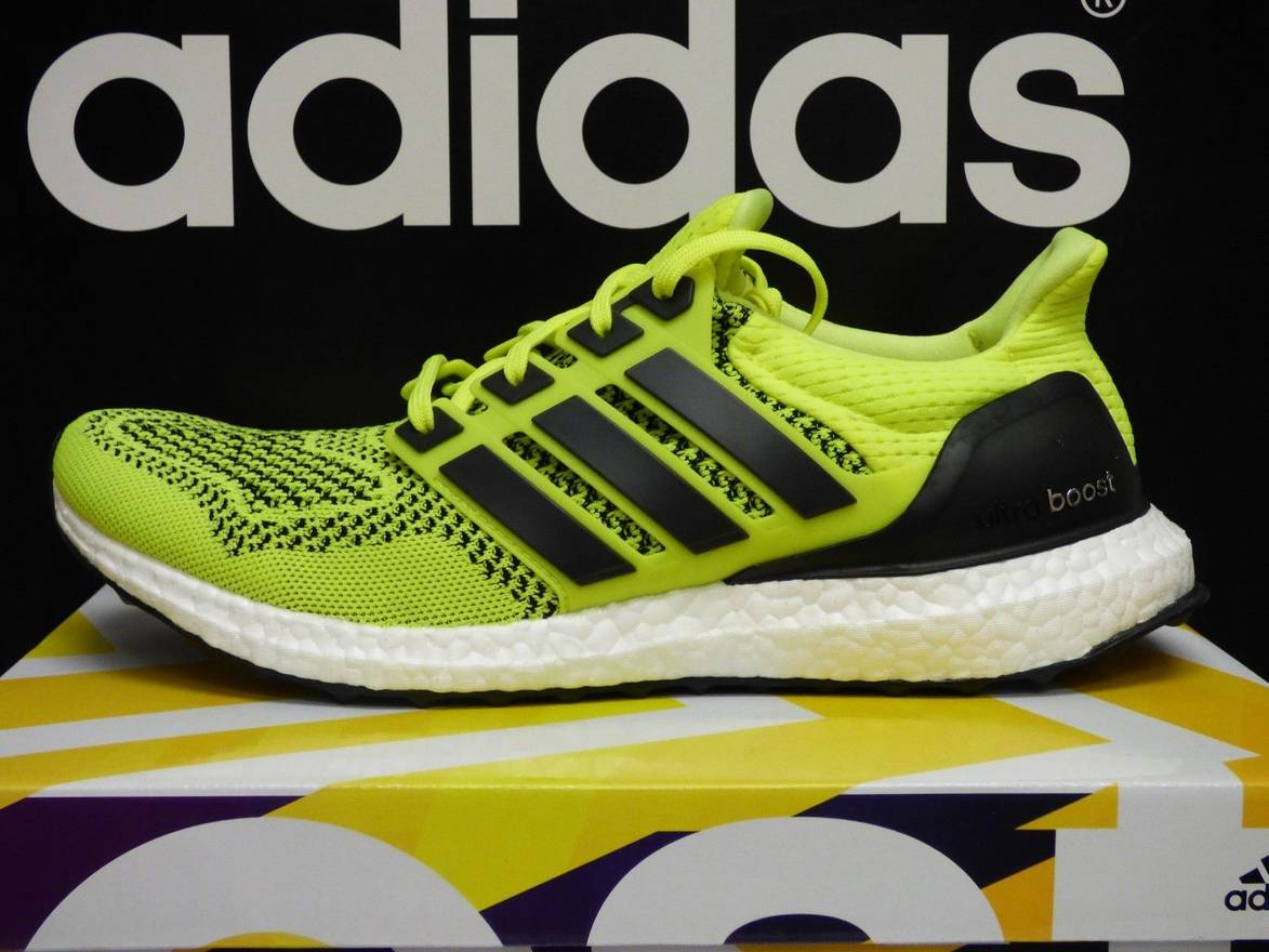Cheap Ultra Boost M Solar Yellow Core Black Sneakers on Sale