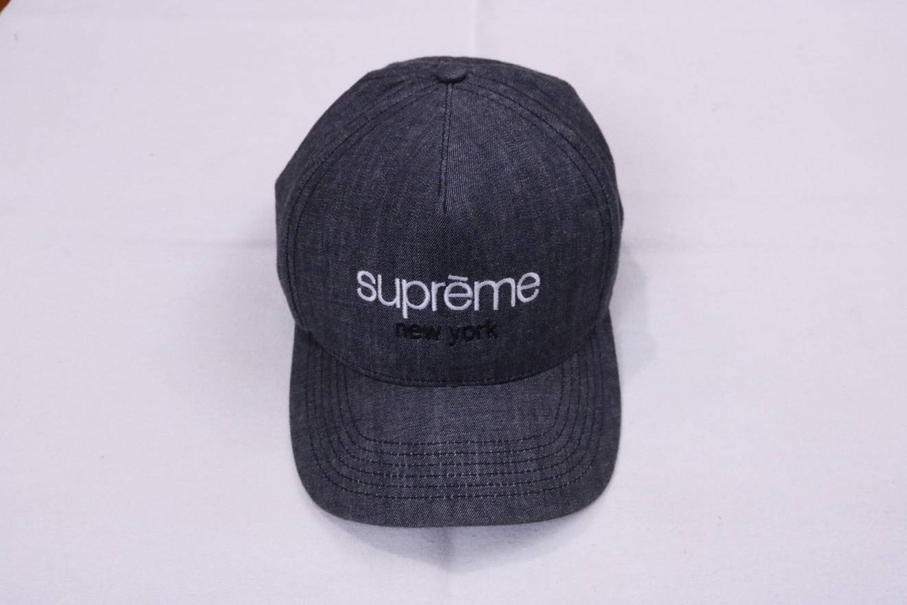 21f352e31d4 ... closeout supreme supreme classic logo denim chambray snapback hat 5  panel camp cap ss13 size one