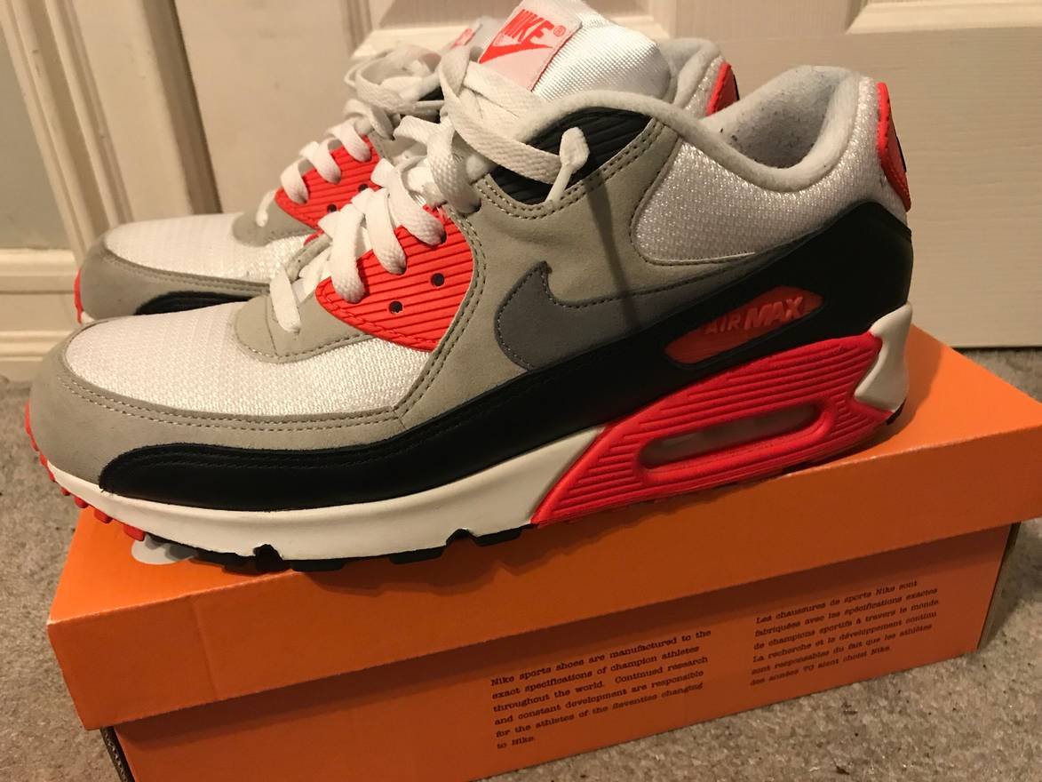 2c625376ccddb ... coupon for nike nike air max 90 infrared og colorway size us 11 eu 44  1a7f6